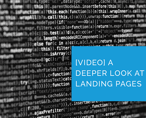 landing pages video