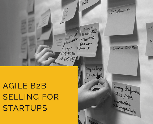agile b2b selling for your startups